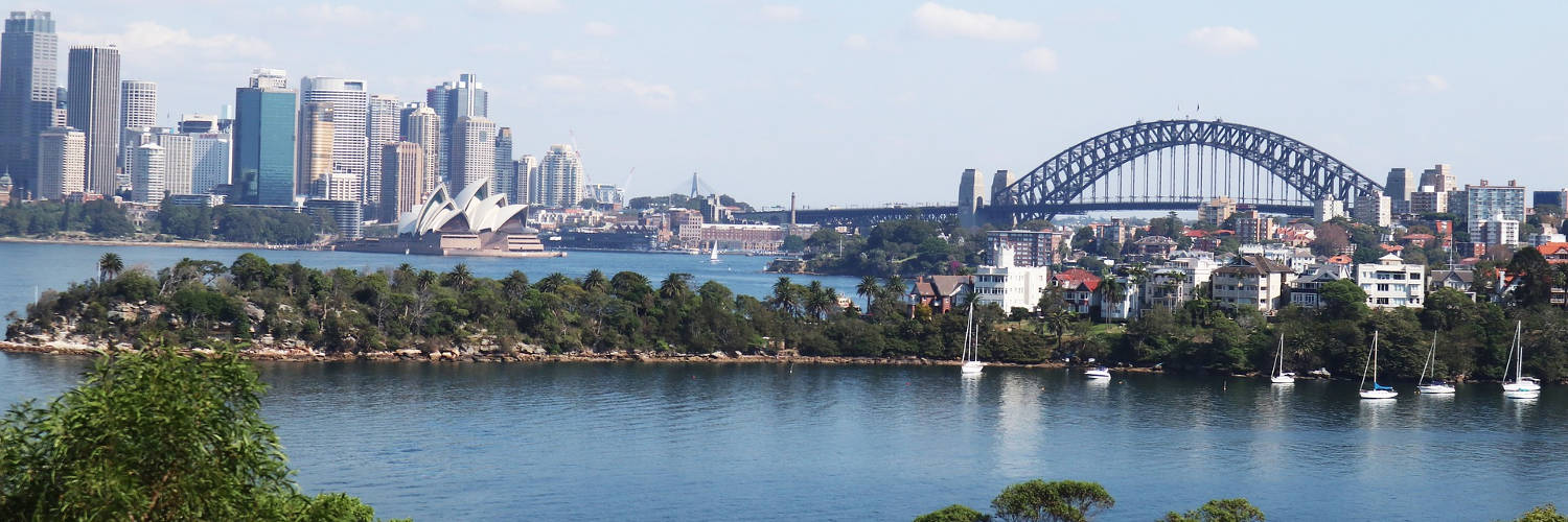 View across Cremorne Point to Sydney centre